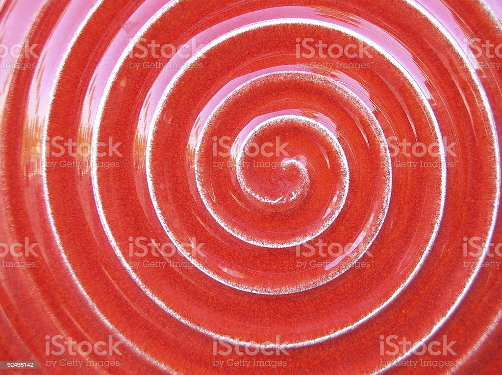 Red tile swirl royalty-free stock photo