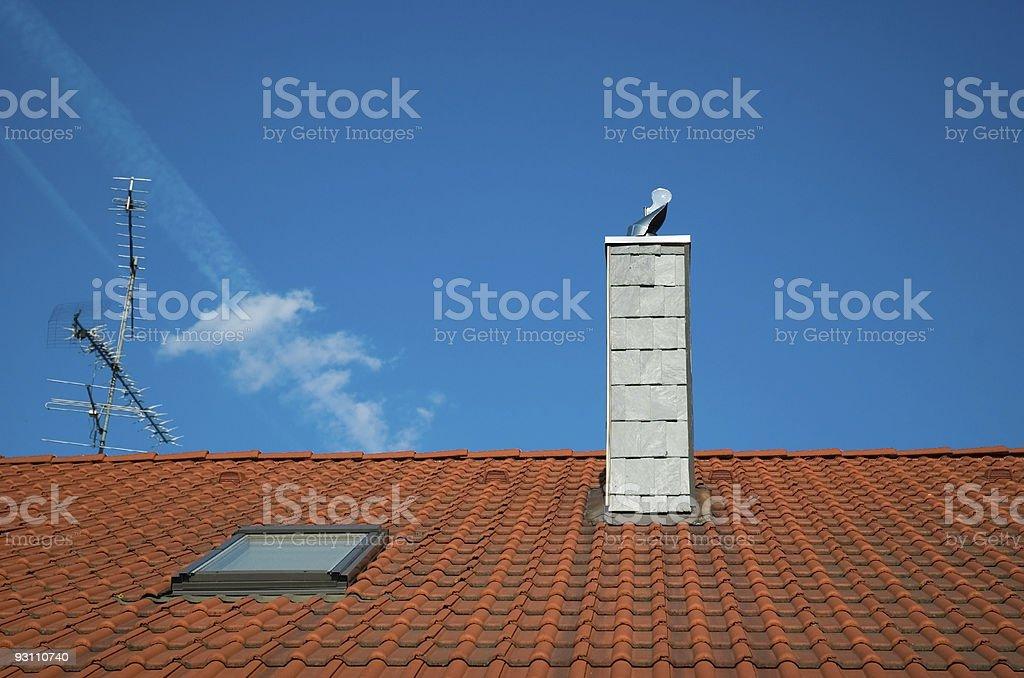 red tiled roof - Royalty-free Aşırı yakın plan Stok görsel