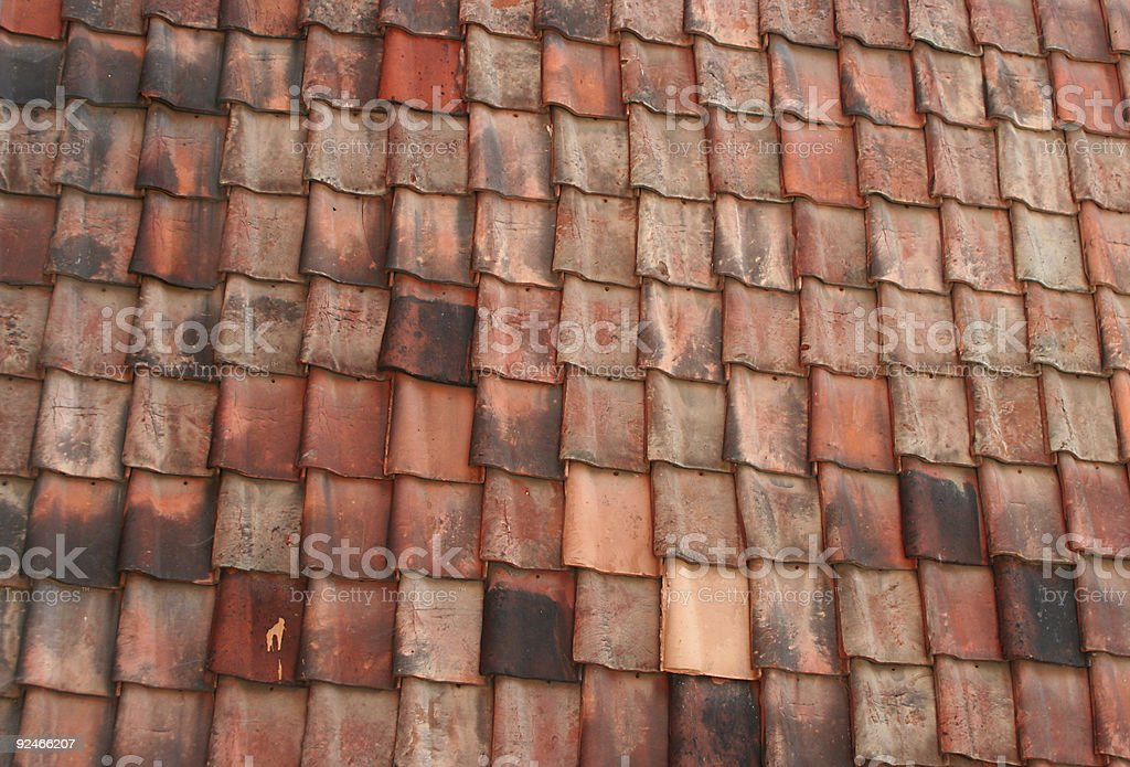 Red tiles stock photo