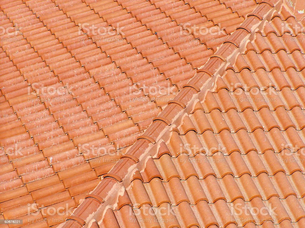 Red tiles royalty-free stock photo