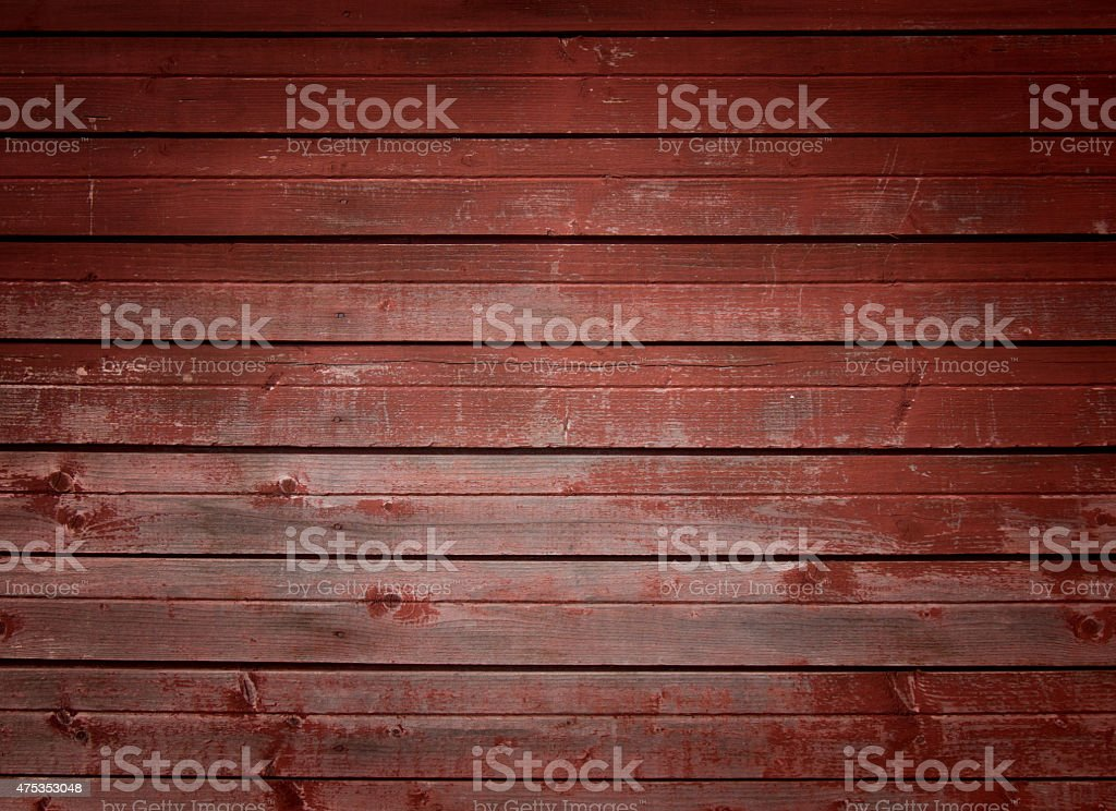 Red timber wall background stock photo
