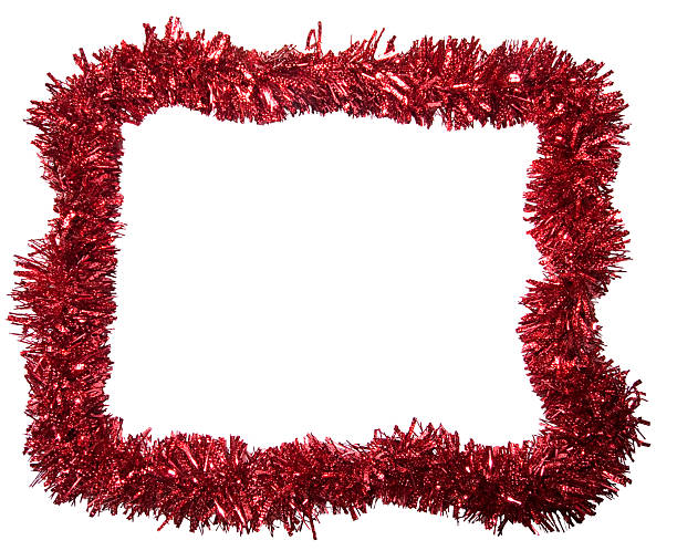 Red Tinsel Border stock photo