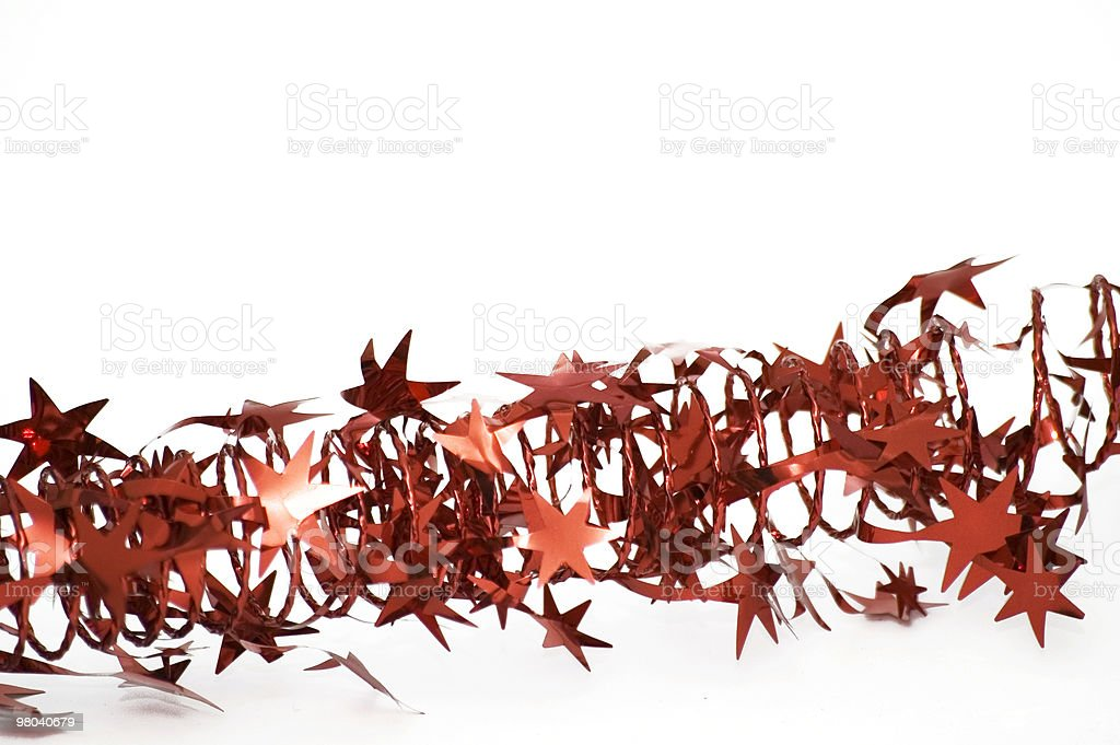 Red Tinsel royalty-free stock photo