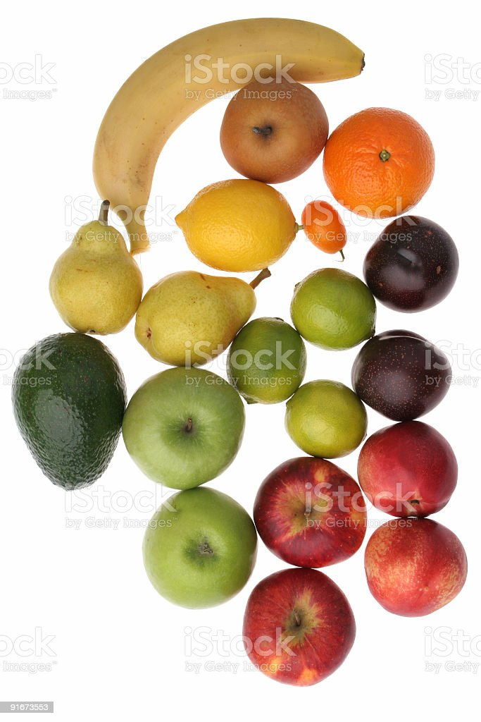 Red to yellow fruits royalty-free stock photo
