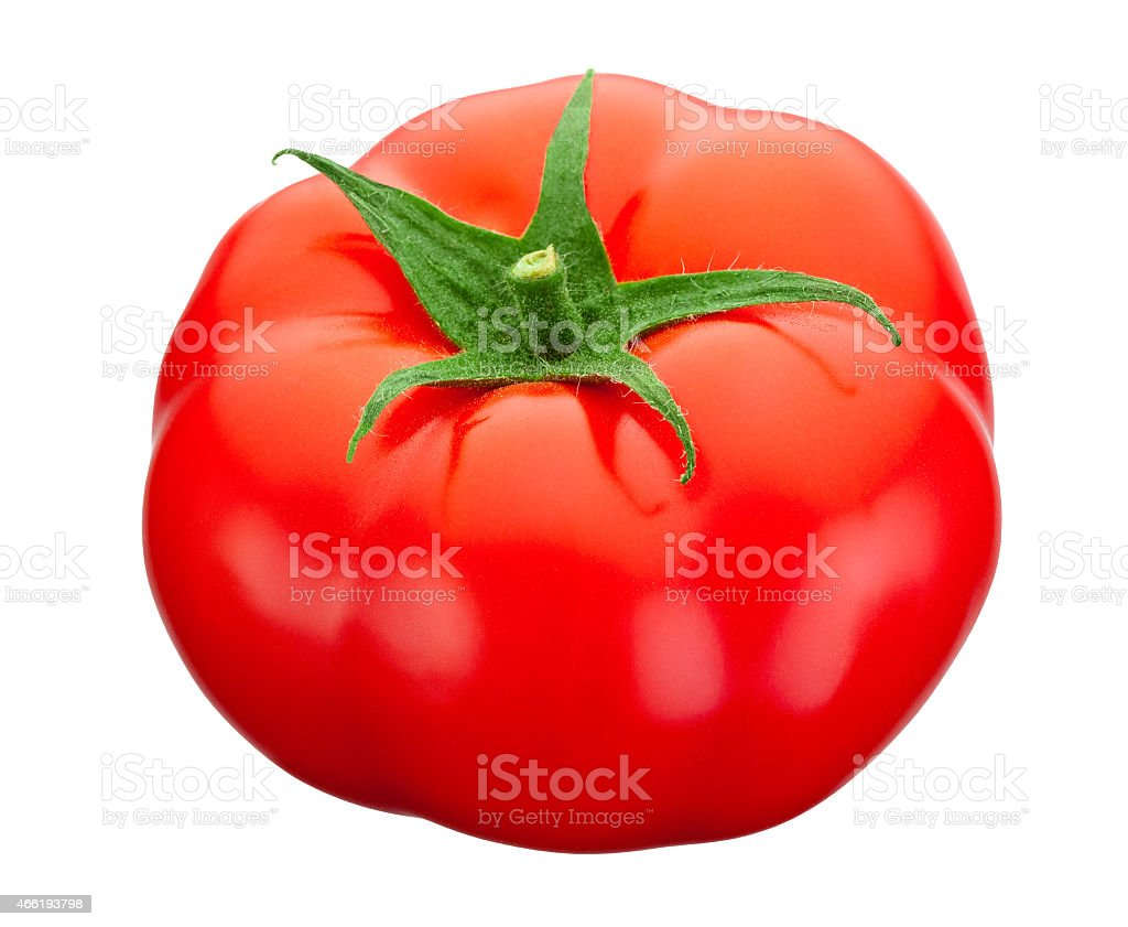 Red tomato isolated on a white background stock photo