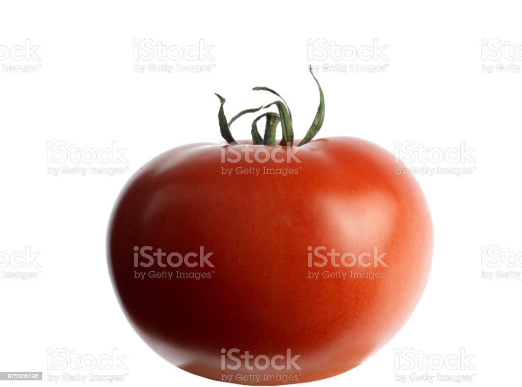Rote Tomaten auf weißem Hintergrund - Lizenzfrei Abnehmen Stock-Foto