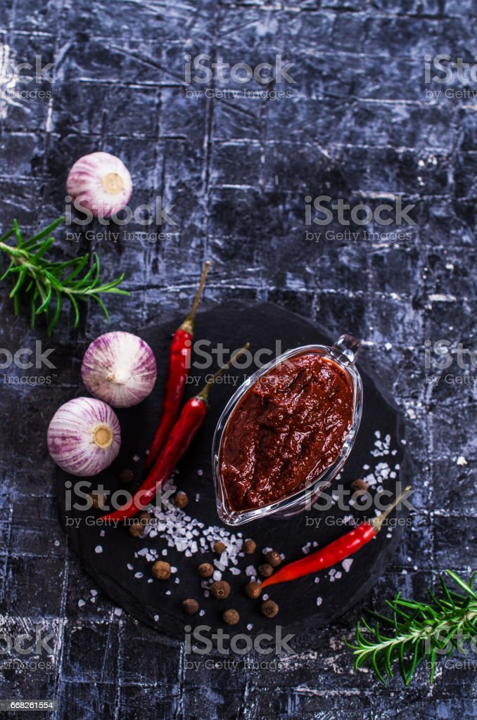 Red tomato sauce foto stock royalty-free