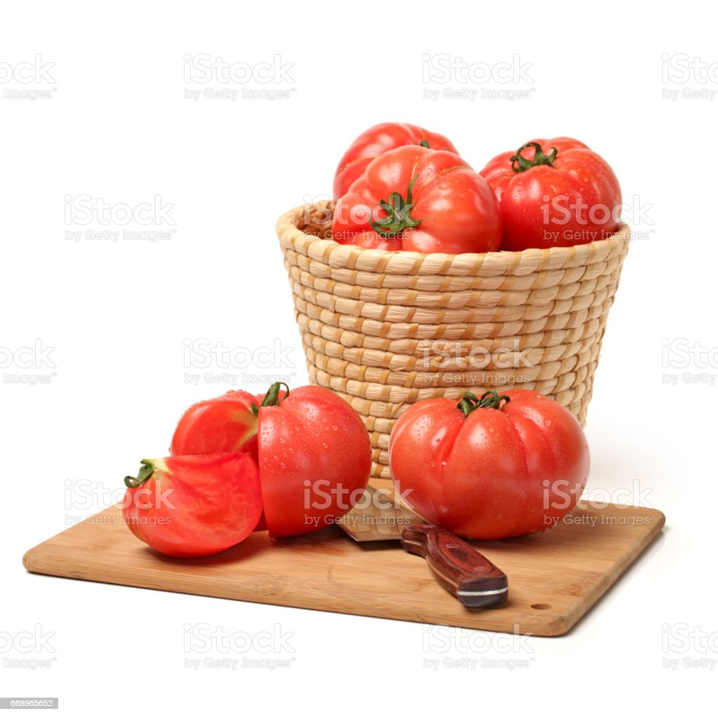 Red tomatoes   Isolated on White Background foto stock royalty-free