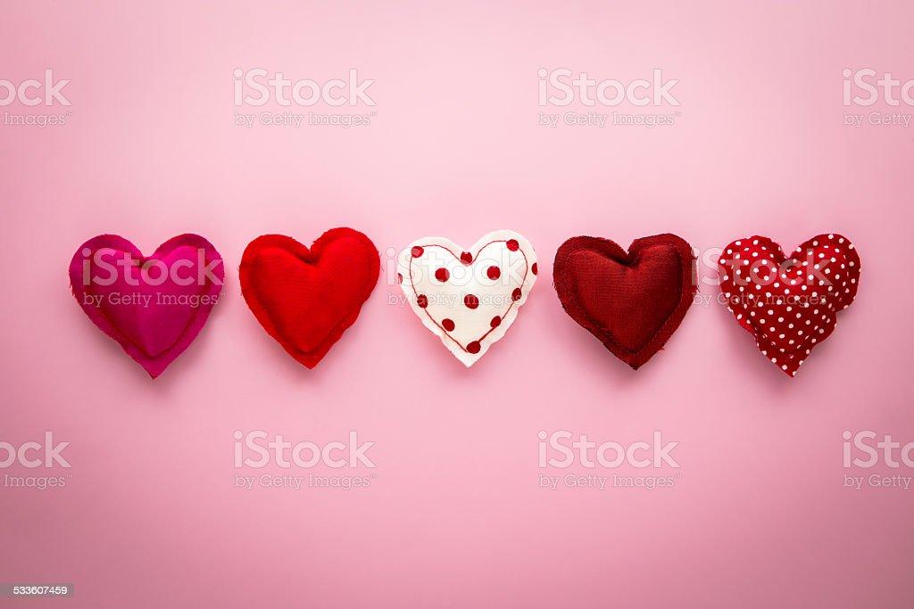 Rotem Ton sweet love Herz Kunsthandwerk für den Valentinstag – Foto