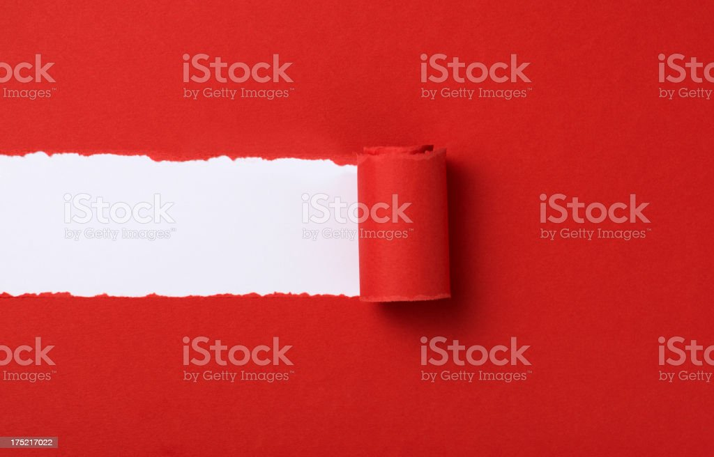 Red torn paper background royalty-free stock photo