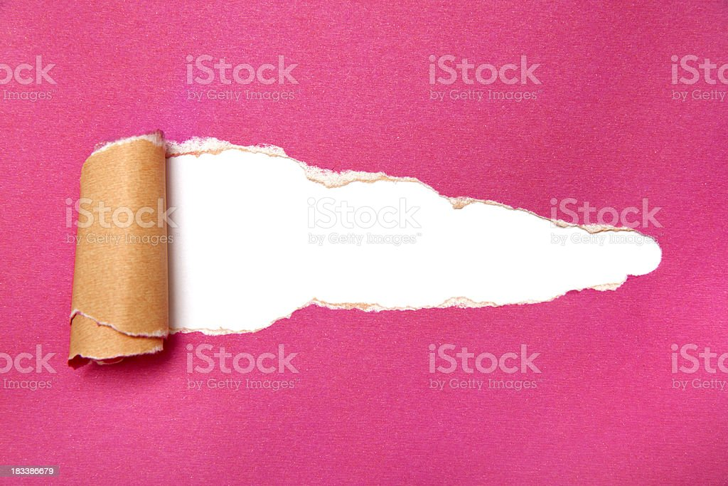 Red torn paper royalty-free stock photo