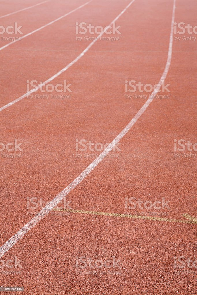 red track lane royalty-free stock photo