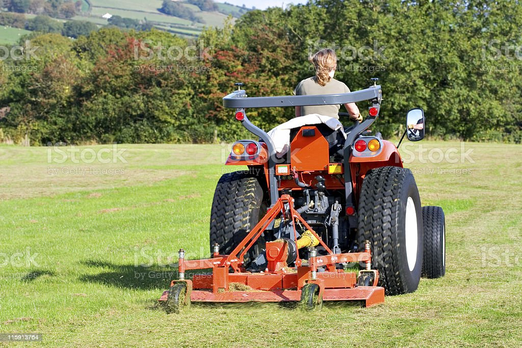 Red Tractor royalty-free stock photo