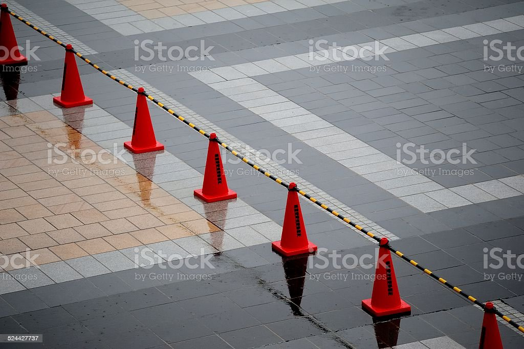 Red Traffic Cones stock photo