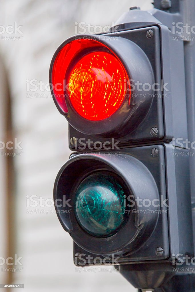 Red traffic lamp stock photo