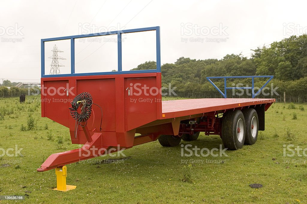 Red Trailer royalty-free stock photo