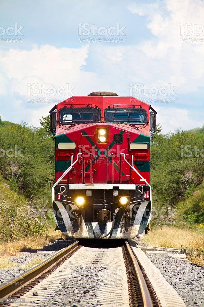red train stock photo
