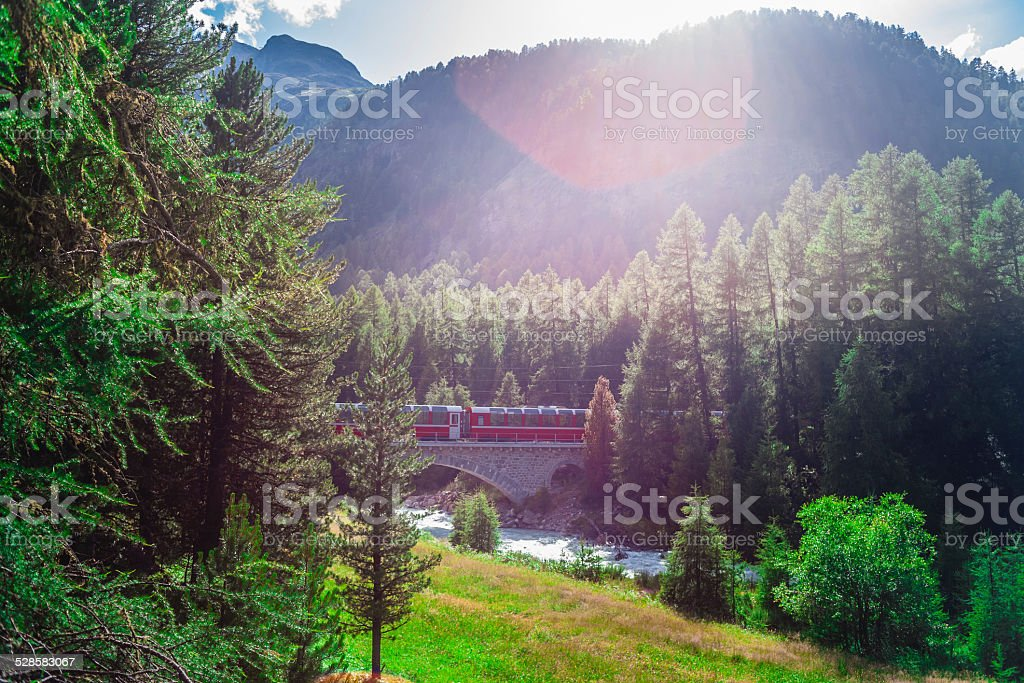 Red train stock photo