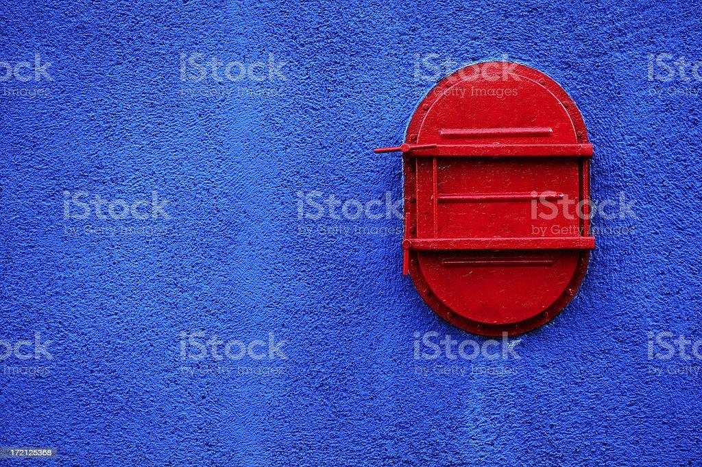 Red trap door stock photo