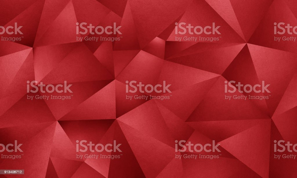 Red triangle geometric background stock photo
