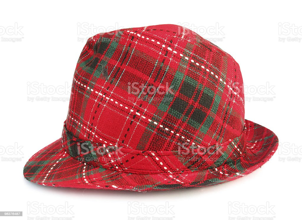 Red trilby hat royalty-free stock photo