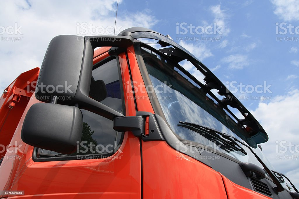 Red truck face. royalty-free stock photo
