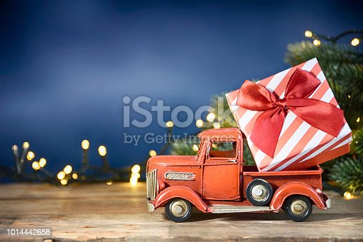 Red truck toy carrying