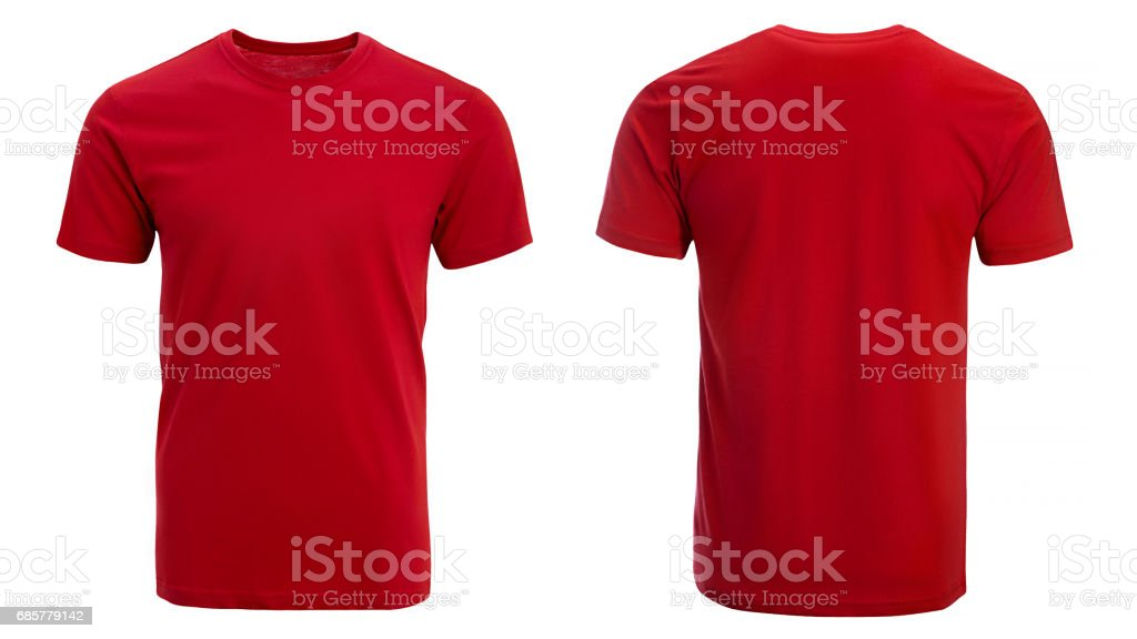 Red tshirt, clothes stock photo