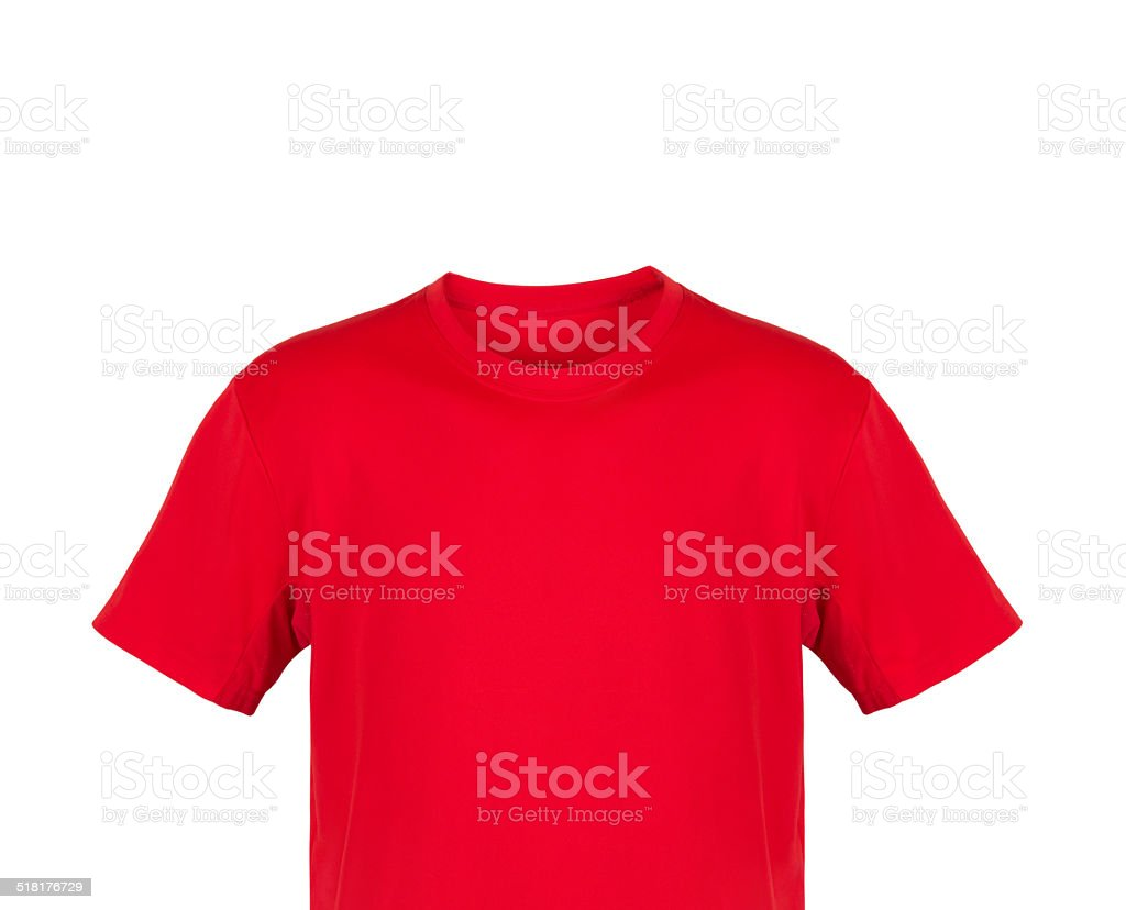 9e65e40fc Red Tshirt Isolated On White Background Stock Photo & More Pictures ...