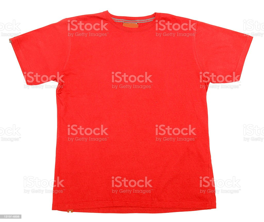 Red t-shirt [with clipping path] royalty-free stock photo