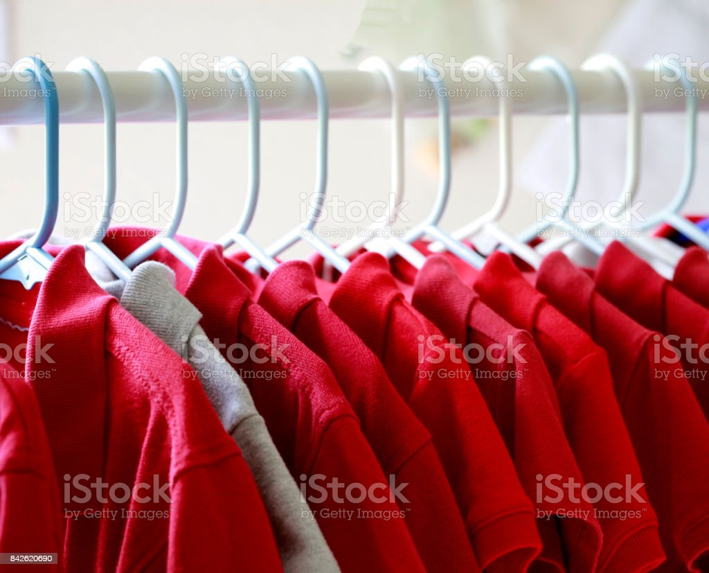 Red T-shirts royalty-free stock photo