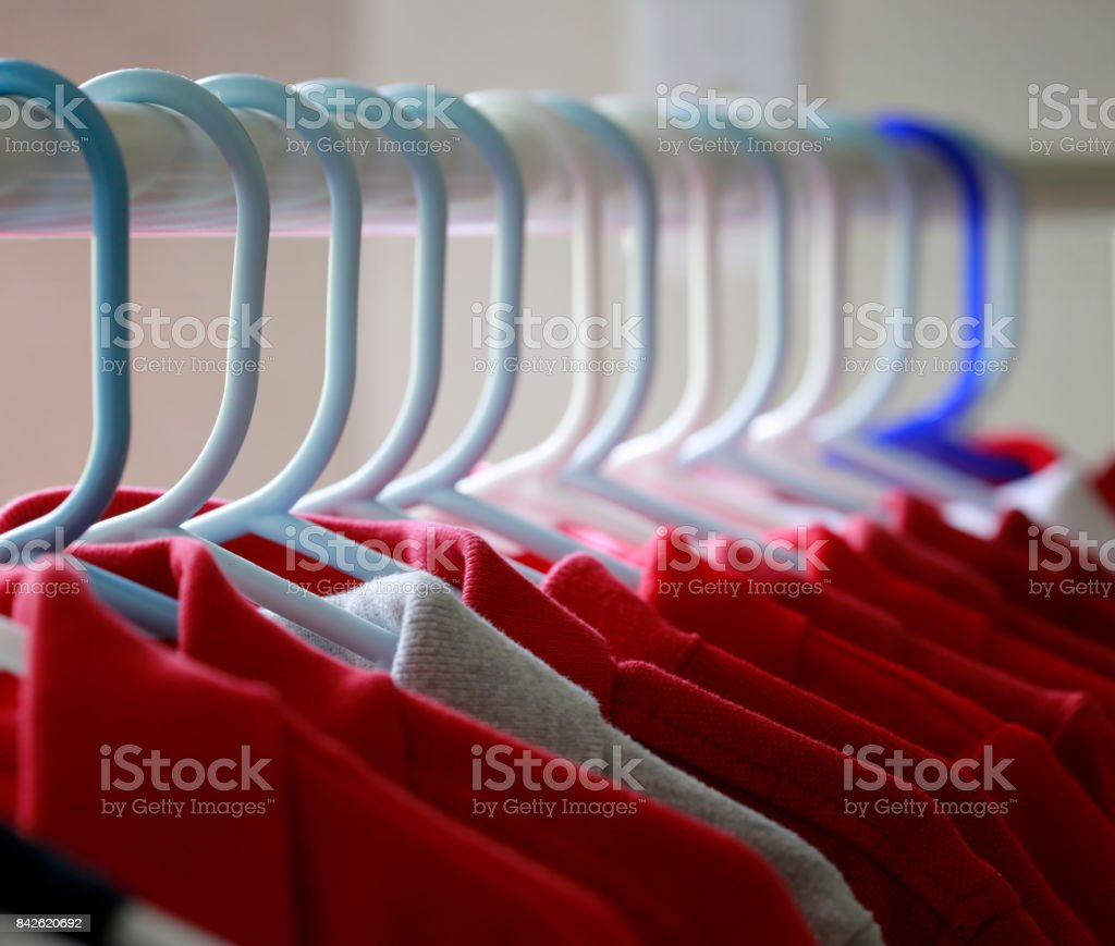 Camisetas rojas - foto de stock