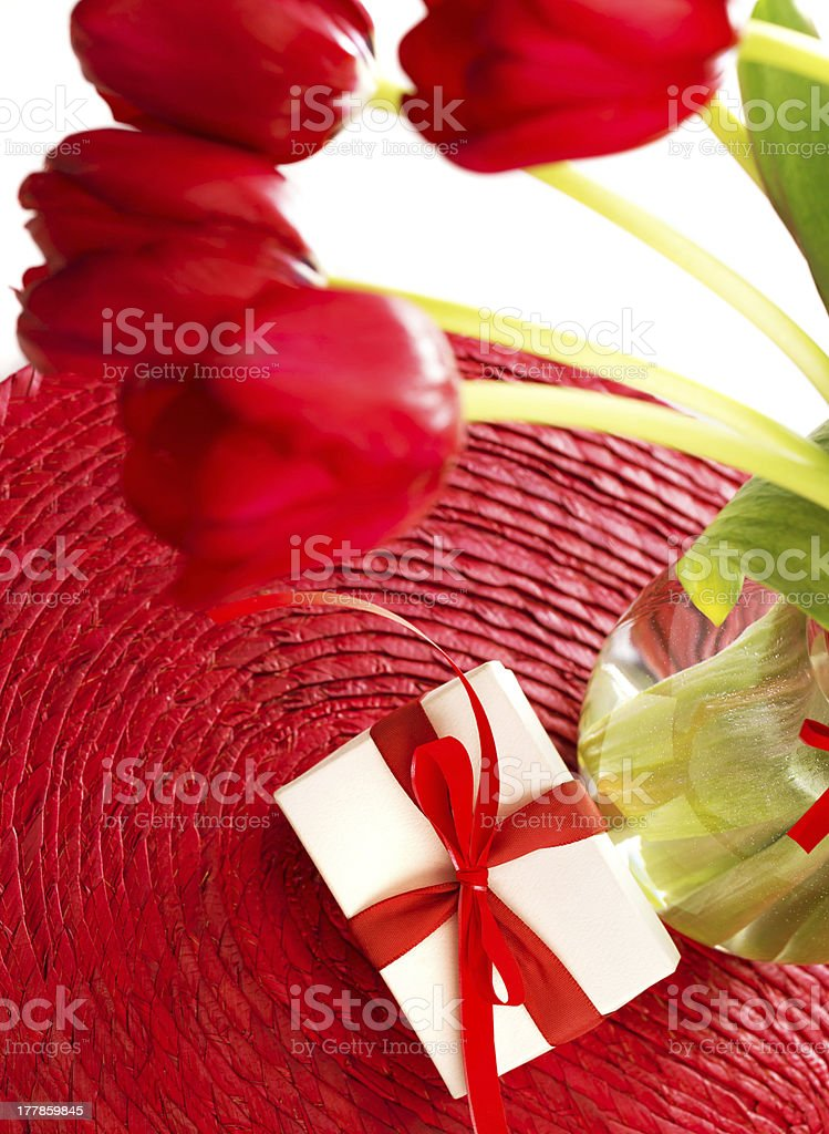 Red tulips for mothers day royalty-free stock photo