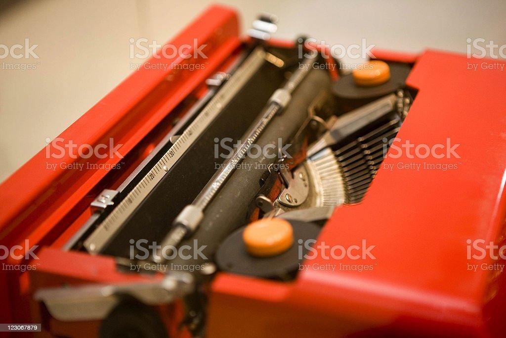 Red  type machine royalty-free stock photo