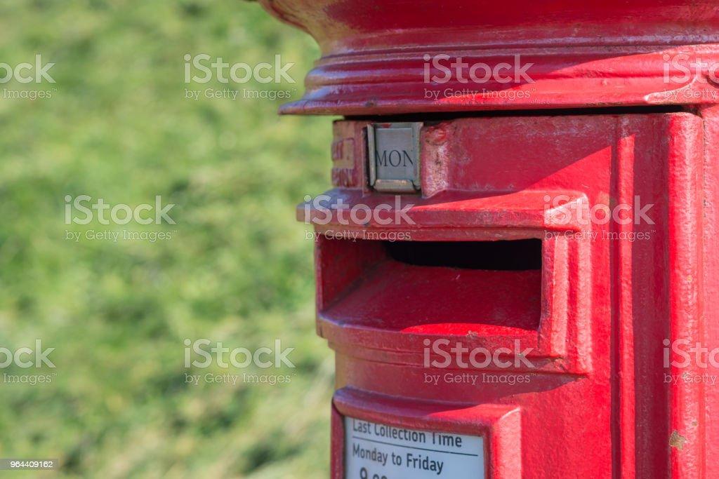 Rode UK postbox - Royalty-free Antiek - Ouderwets Stockfoto