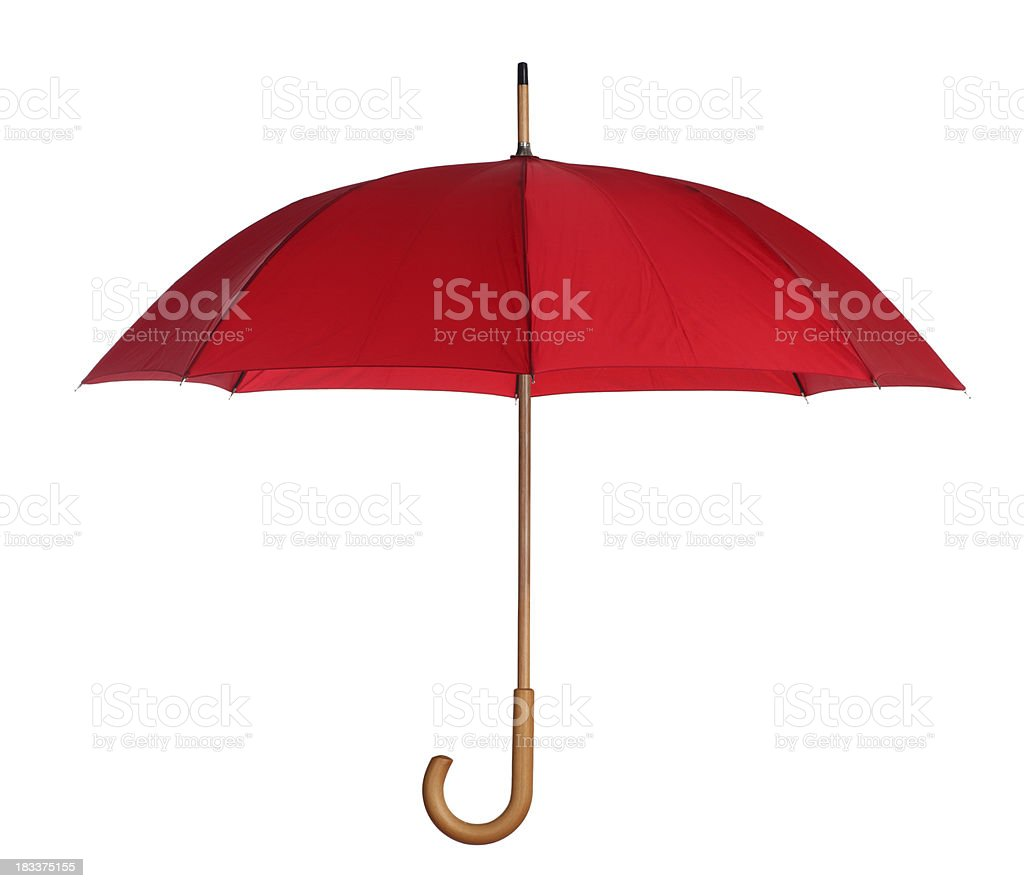 Red Umbrella Isolated on White royalty-free stock photo