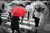 istock Red Umbrella 697901466