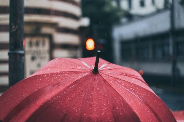 red umbrella - umbrellas stock photos and pictures