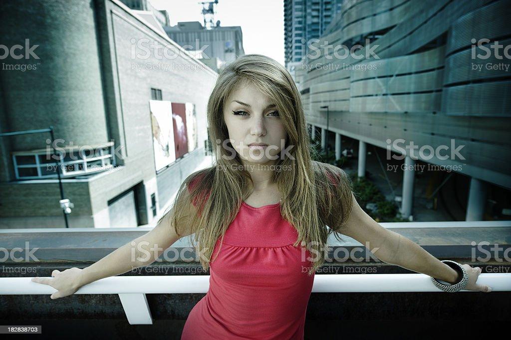 Red Urban Woman stock photo