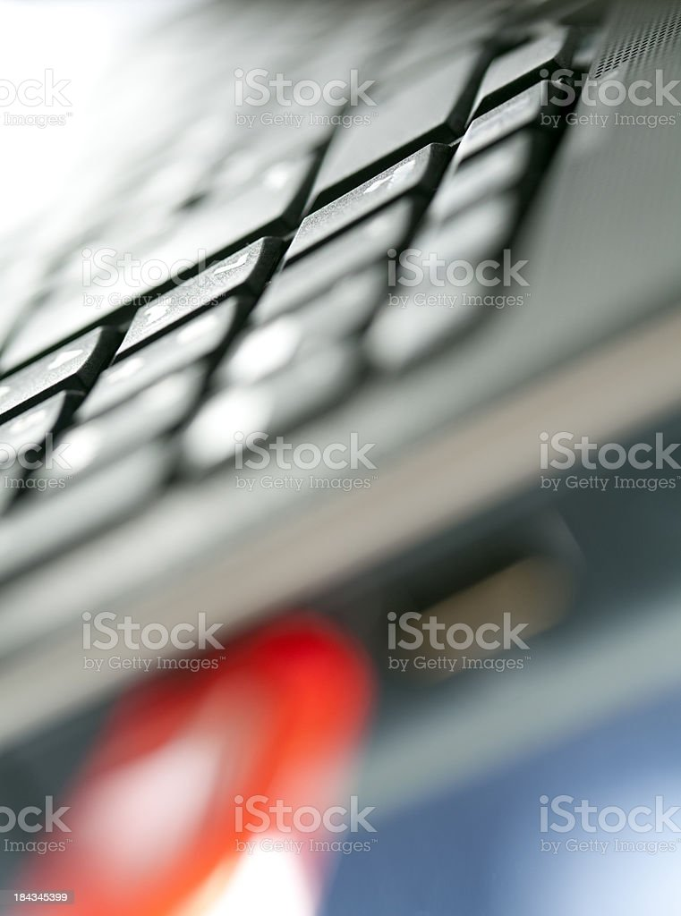 red usb stick in laptop royalty-free stock photo