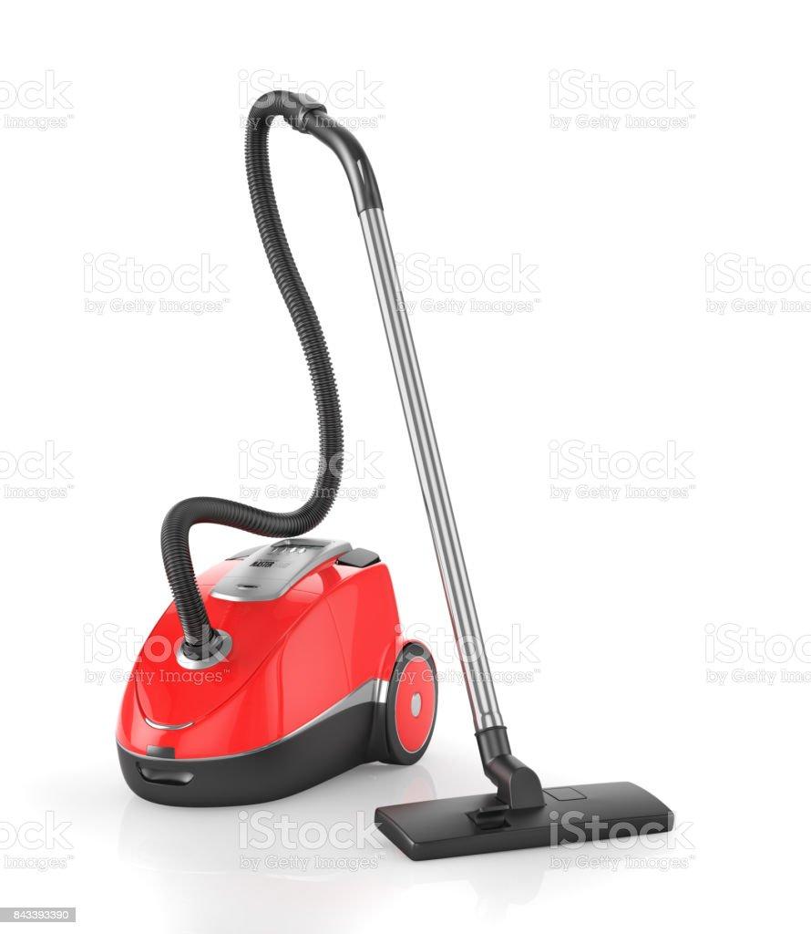 Red vacuum cleaner - foto stock