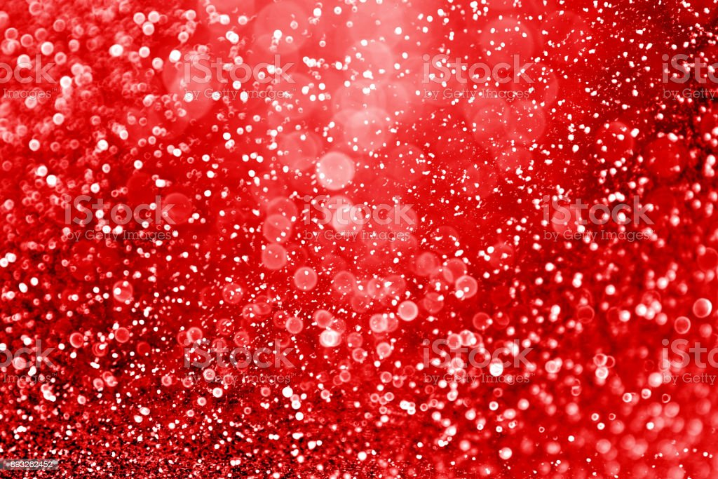 Red Valentine Day or Christmas glitter background or New Year's Eve party invitation stock photo
