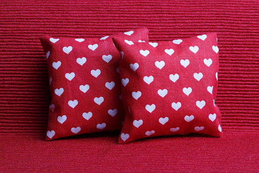 red valentine's day cushion
