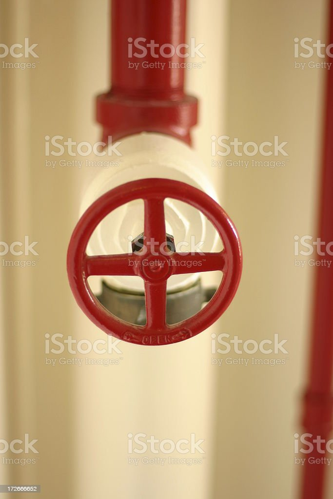 Red valve royalty-free stock photo
