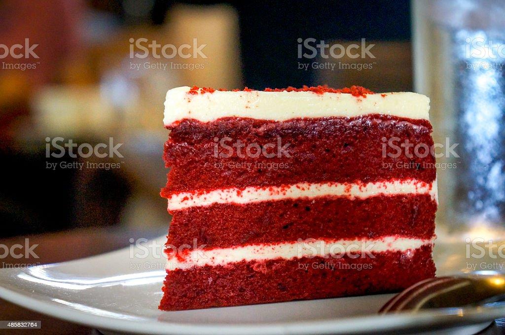 Red Velvet Cake stock photo