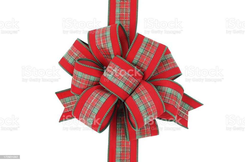 Red Velvet Christmas Bow (XL) stock photo