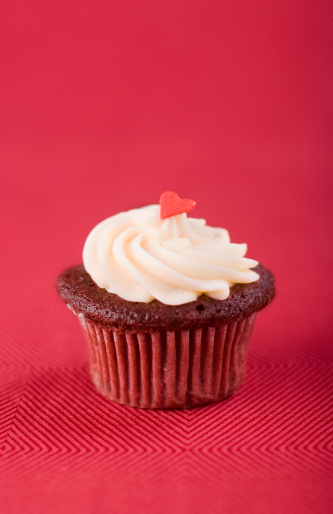 Red Velvet Cupcake Stock Photo - Download Image Now