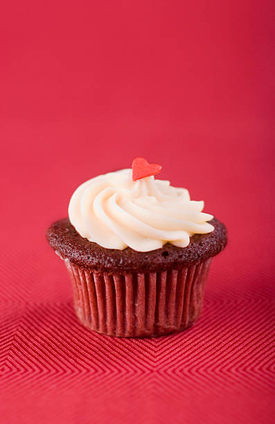 Red Velvet Cupcake stock photo