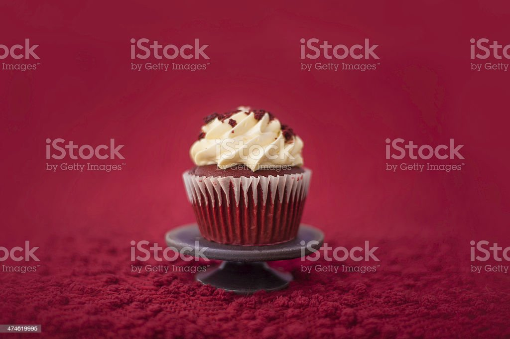 Red Velvet Cupcake royalty-free stock photo