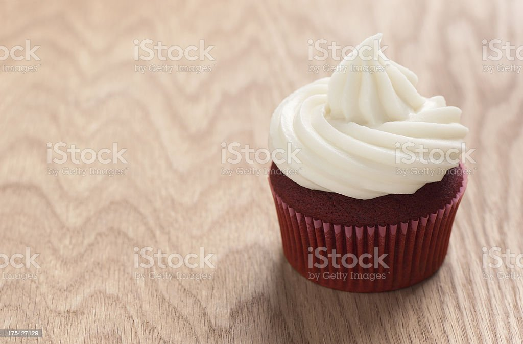 Red Velvet Cupcake with Copy Space stock photo